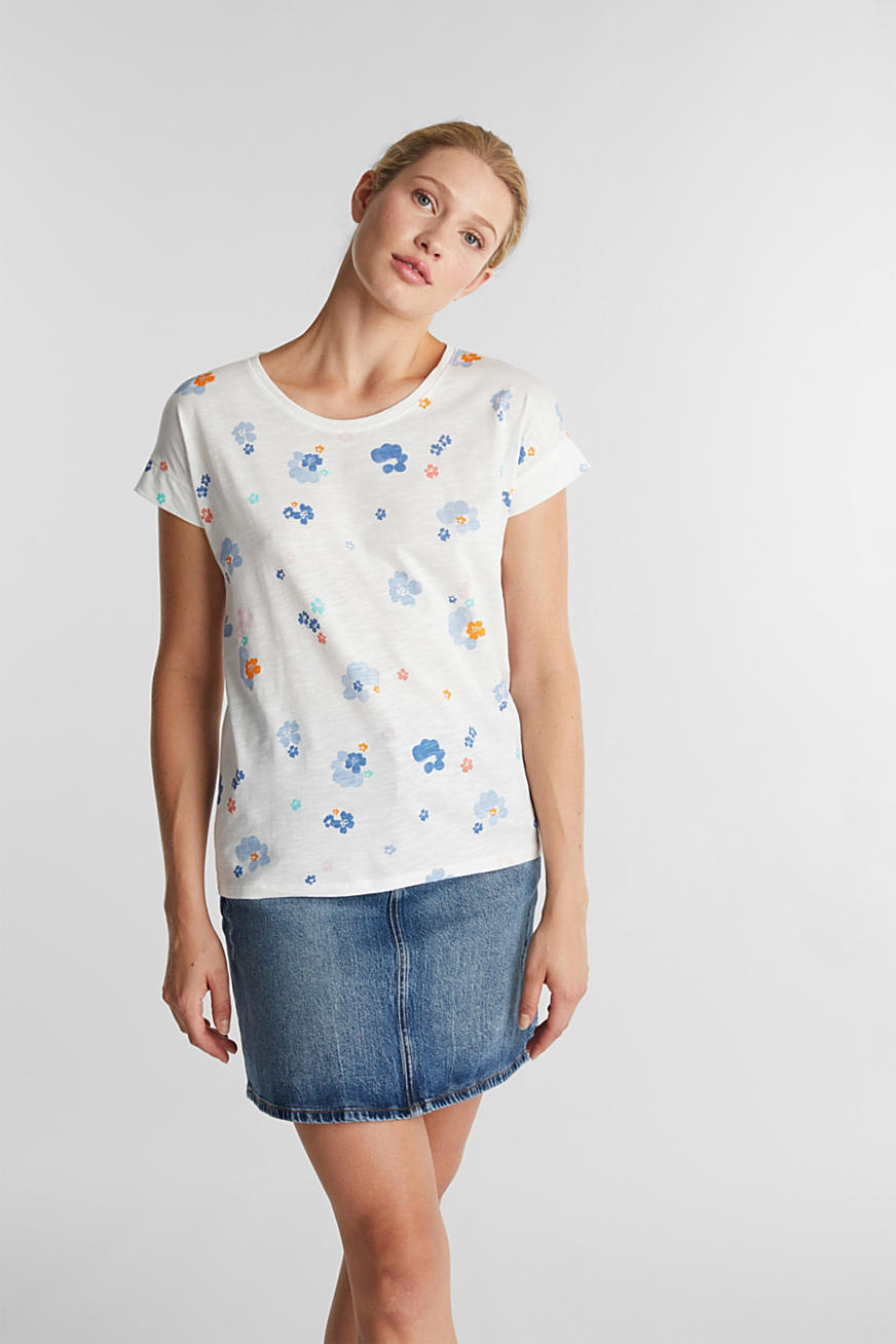 Shirt mit Print, 100% Organic Cotton