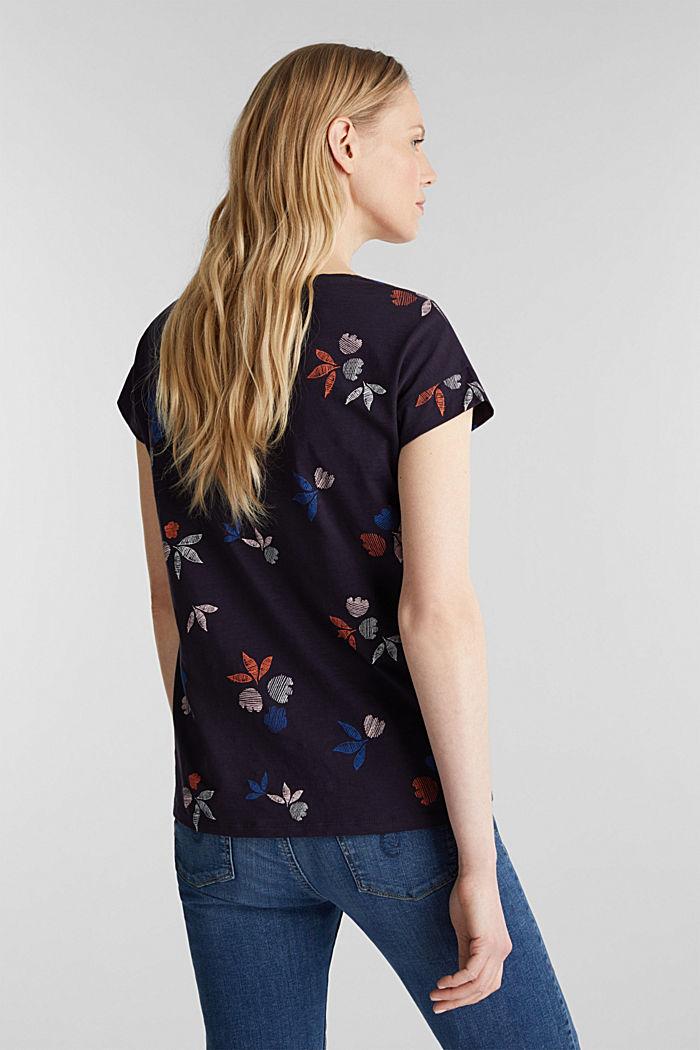 Shirt met print, 100% biologisch katoen, NAVY, detail image number 1