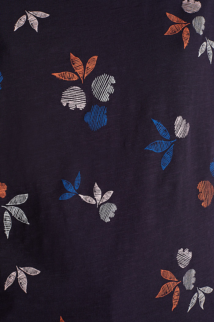 Camiseta con estampado, 100% algodón ecológico, NAVY, detail image number 2