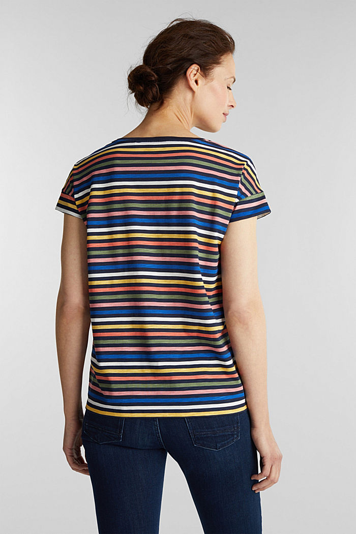 T-shirt with a print, 100% organic cotton, NAVY BLUE, detail image number 3