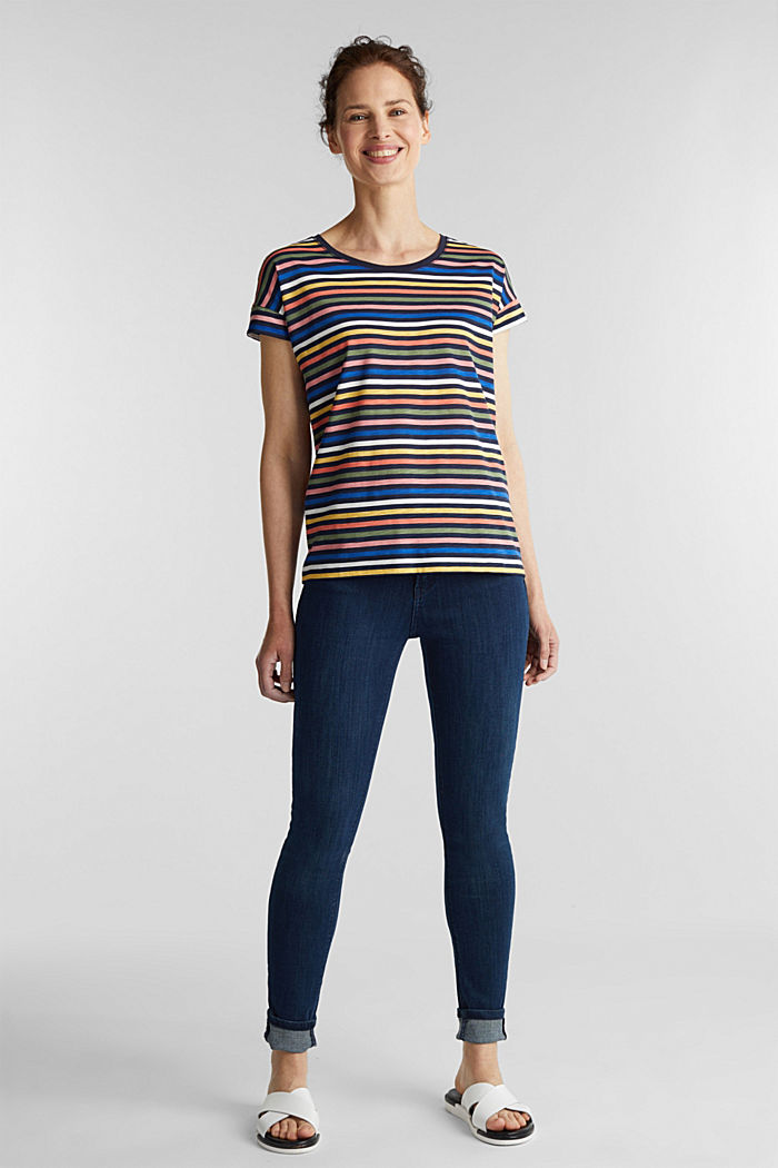 T-shirt with a print, 100% organic cotton, NAVY BLUE, detail image number 1