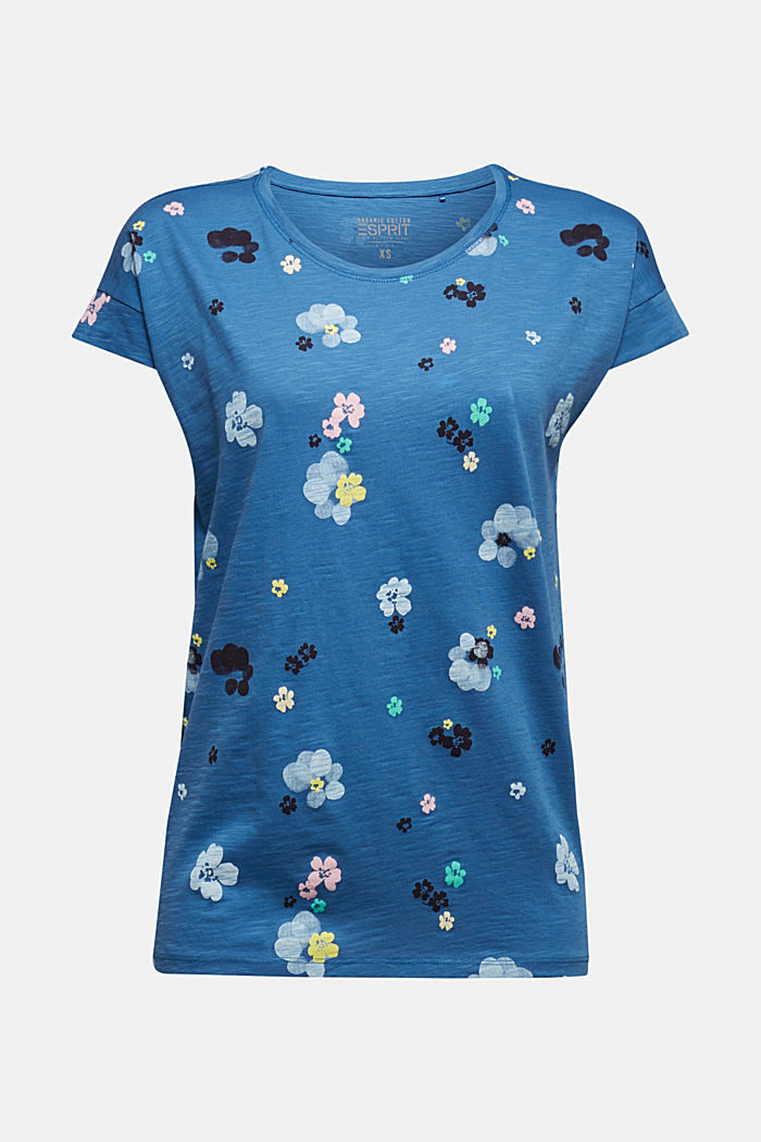 T-shirt with a print, 100% organic cotton, BRIGHT BLUE, detail image number 5