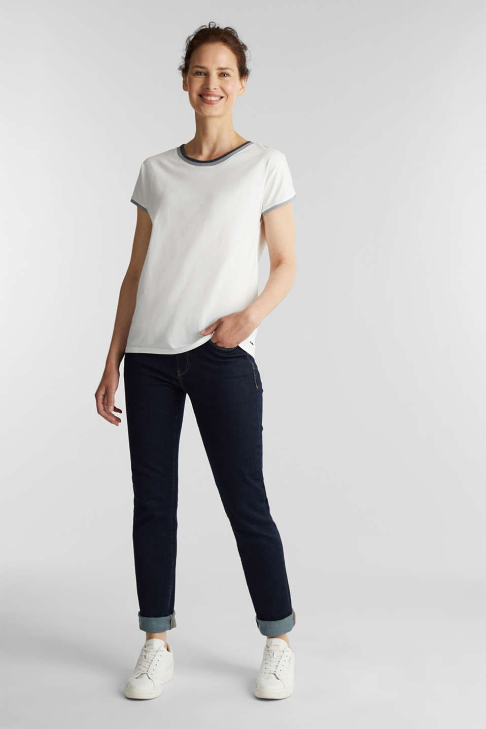 Sparkly top, 100% cotton, OFF WHITE, detail image number 1