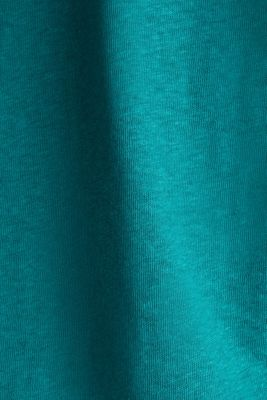 Blended linen top with an elasticated waistband, TEAL GREEN, detail