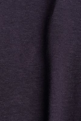 Blended linen top with an elasticated waistband, NAVY, detail