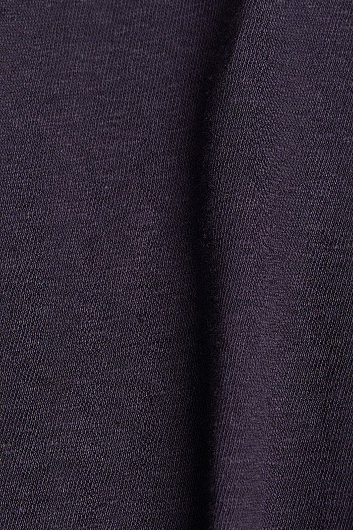 Blended linen top with an elasticated waistband, NAVY, detail image number 4