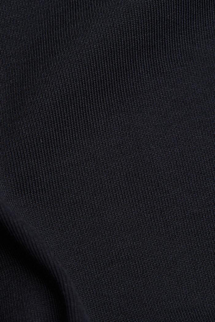 Maglia a manica lunga in 100% cotone biologico, BLACK, detail image number 4