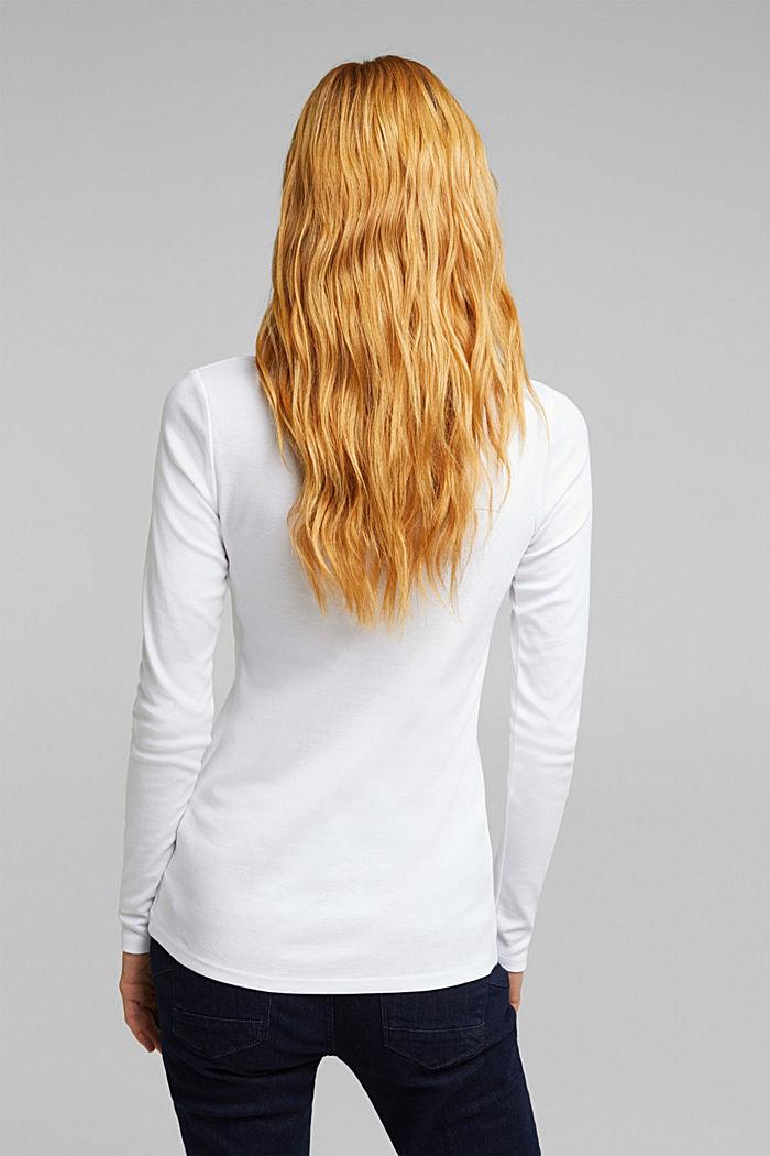 Koszulka z długimi rękawami, 100% bawełny organicznej, WHITE, detail image number 3