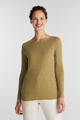 Recycled: long sleeve top with organic cotton