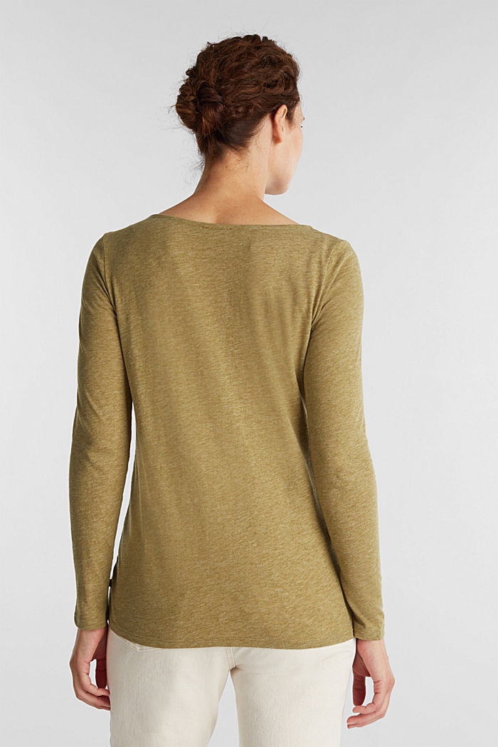 Recycled: long sleeve top with organic cotton, OLIVE, detail image number 3