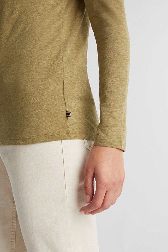 Recycled: long sleeve top with organic cotton, OLIVE, detail image number 2