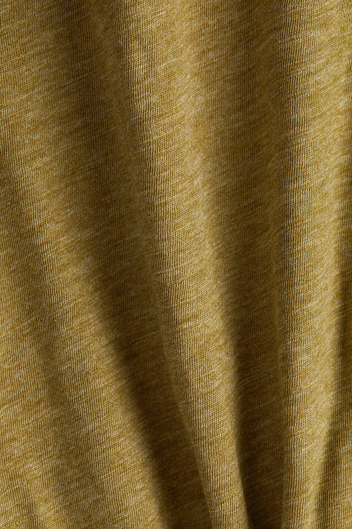 Recycled: long sleeve top with organic cotton, OLIVE, detail image number 4