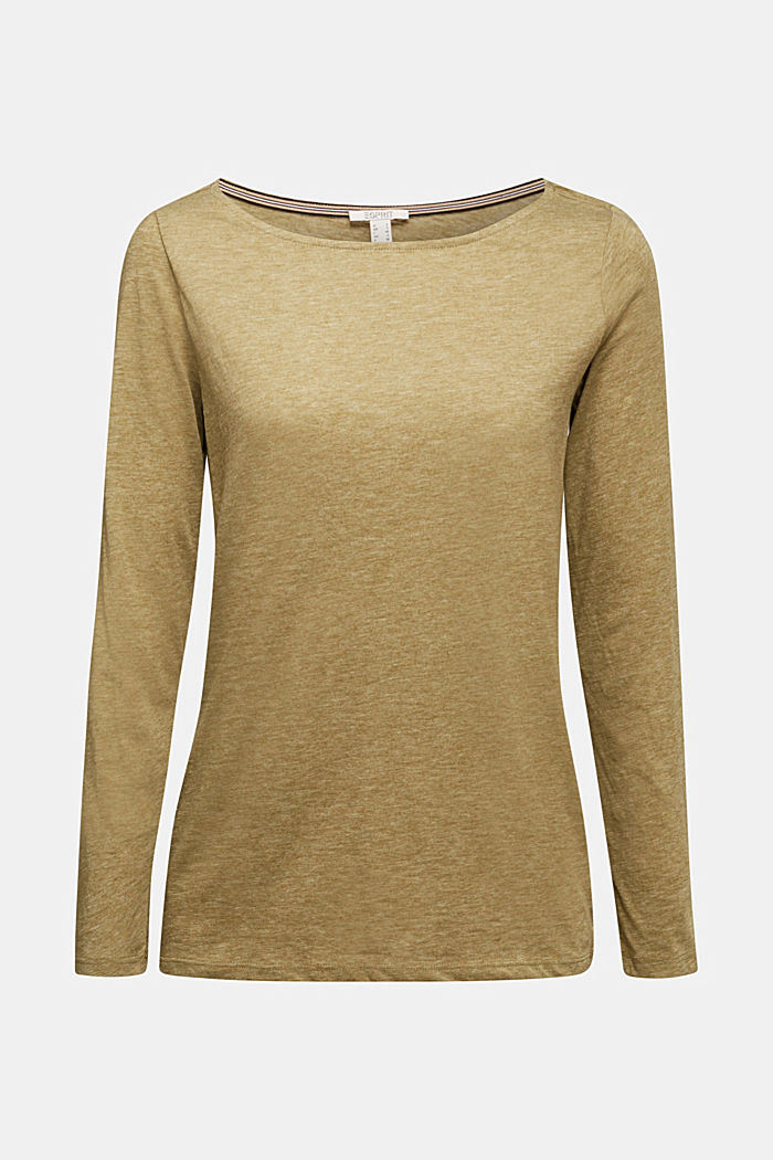 Recycled: long sleeve top with organic cotton, OLIVE, detail image number 5