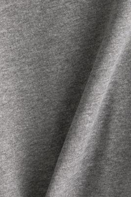 Long sleeve top with striped hem edges, GUNMETAL 5, detail