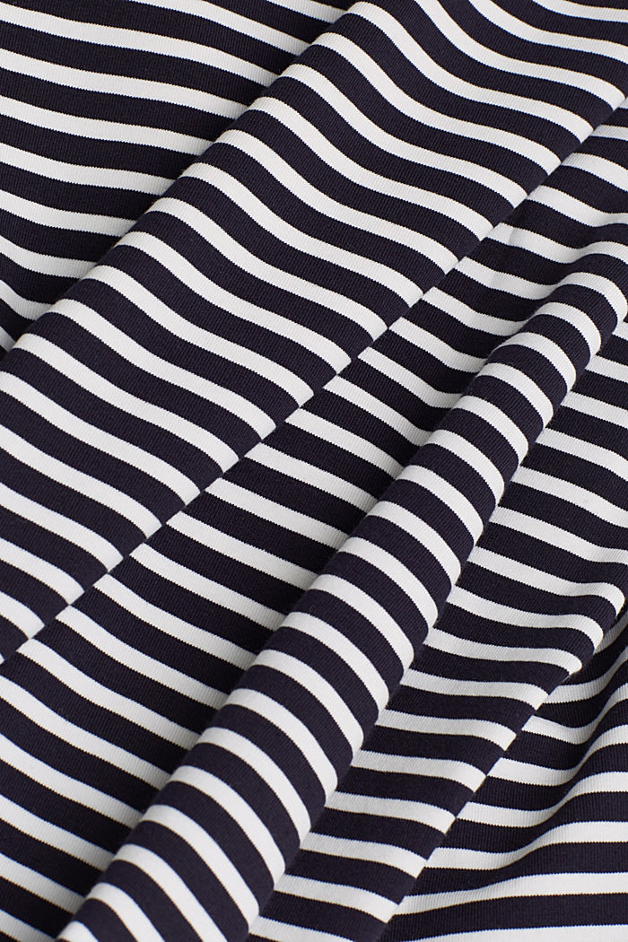 Striped long sleeve top with a bow detail, NAVY, detail image number 4