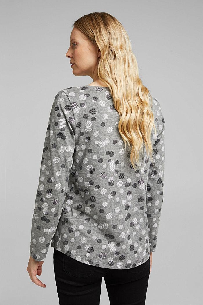 T-shirt à manches longues, coton mélangé, GUNMETAL, detail image number 3