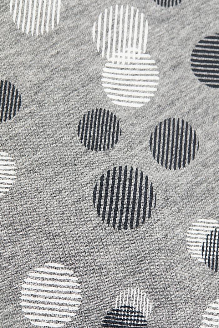 T-shirt à manches longues, coton mélangé, GUNMETAL, detail image number 4
