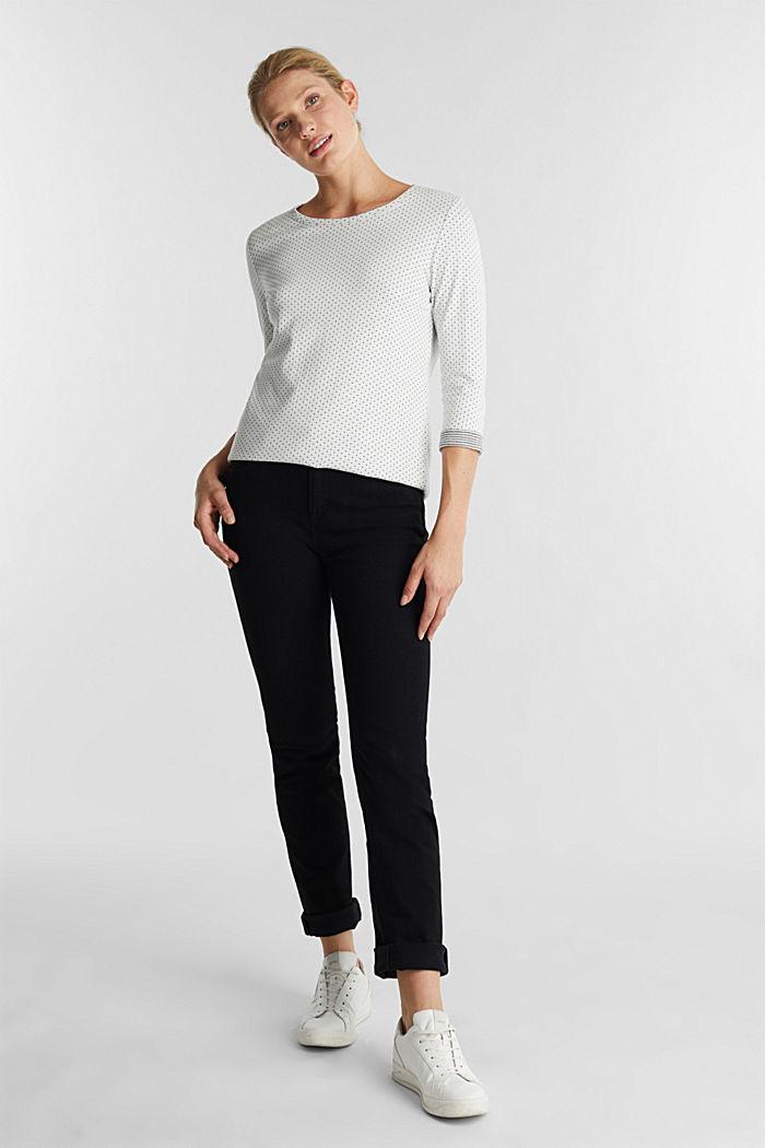 Oboustranné tričko s dlouhým rukávem a s bavlnou, OFF WHITE, detail image number 1