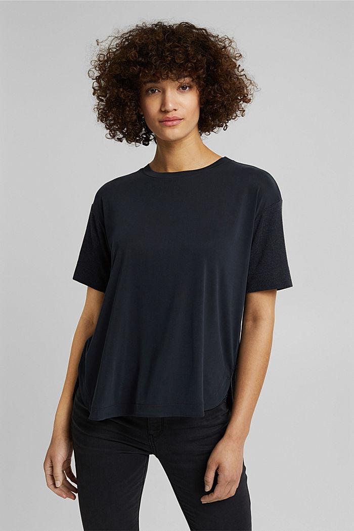 Koszulka z LENZING™ ECOVERO™, BLACK, detail image number 0