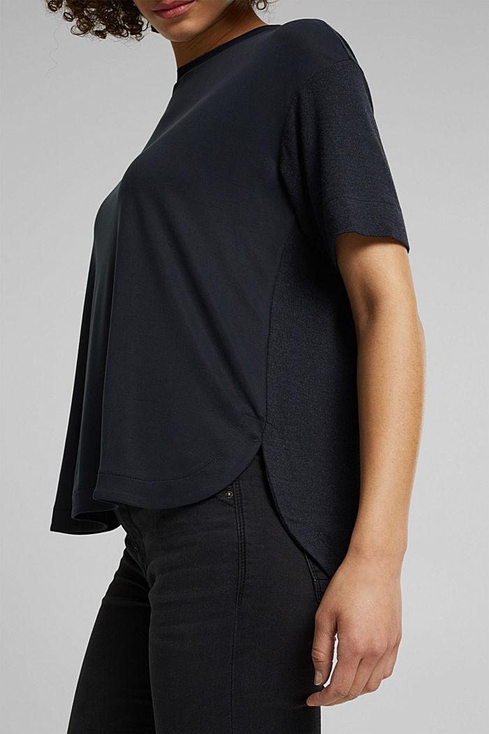 Koszulka z LENZING™ ECOVERO™, BLACK, detail image number 5