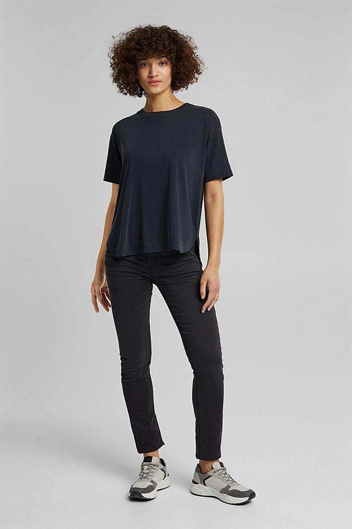 Koszulka z LENZING™ ECOVERO™, BLACK, detail image number 6