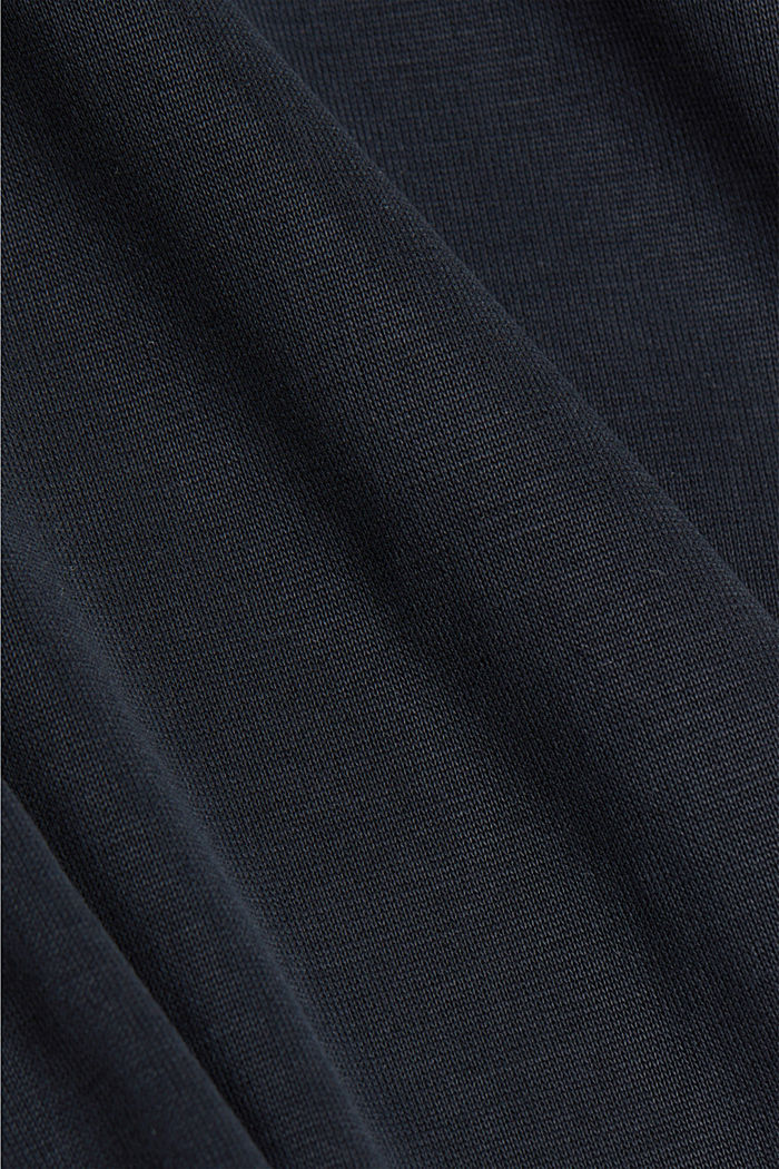 T-shirt with LENZING™ ECOVERO™, BLACK, detail image number 4