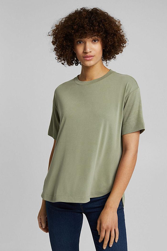 T-shirt con LENZING™ ECOVERO™, LIGHT KHAKI, detail image number 0