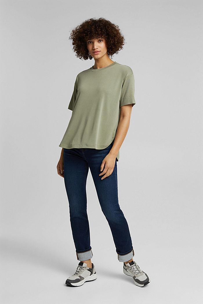 T-shirt con LENZING™ ECOVERO™, LIGHT KHAKI, detail image number 5