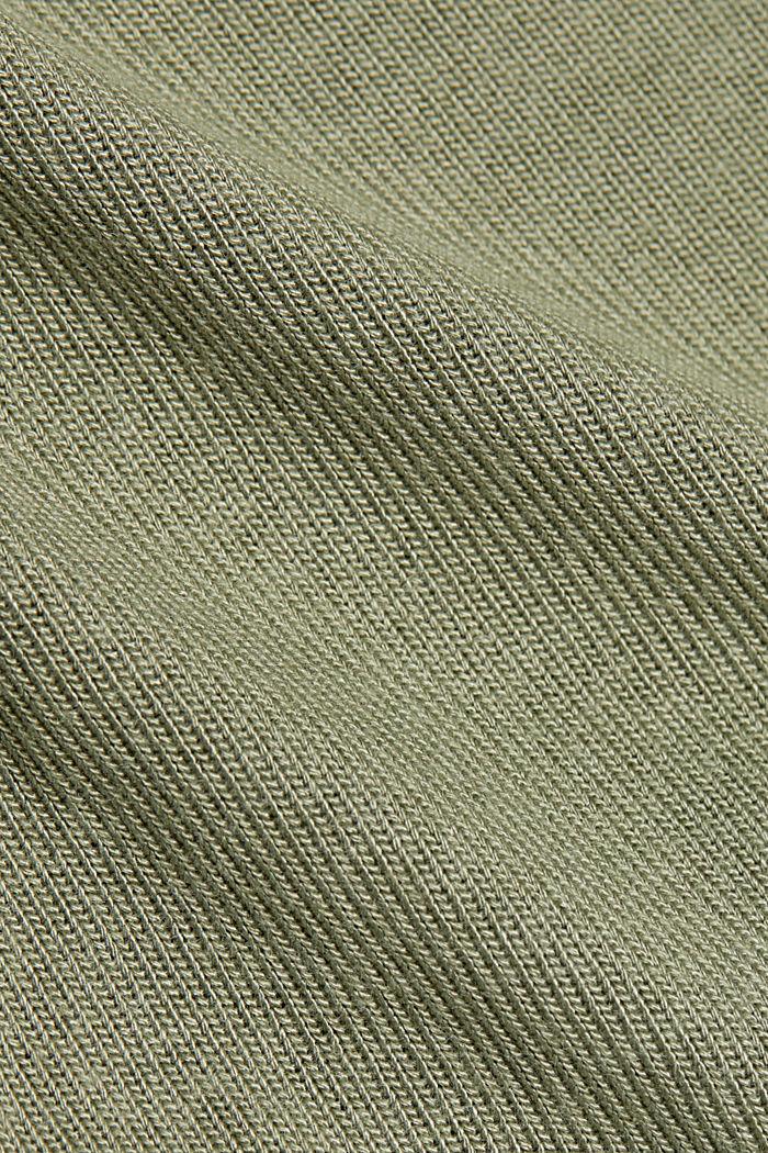 T-shirt con LENZING™ ECOVERO™, LIGHT KHAKI, detail image number 4