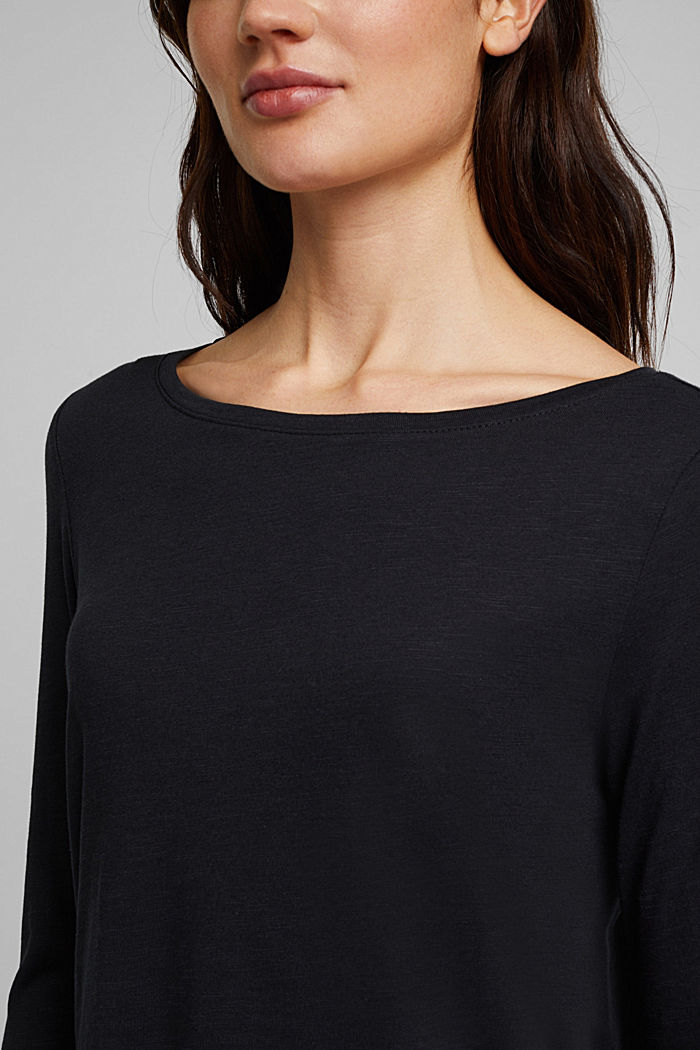 Organic cotton-jersey T-shirt, BLACK, detail image number 2