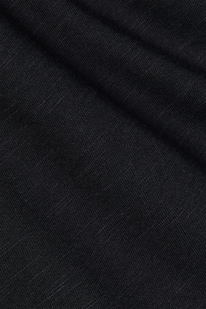 Organic cotton-jersey T-shirt, BLACK, detail image number 4