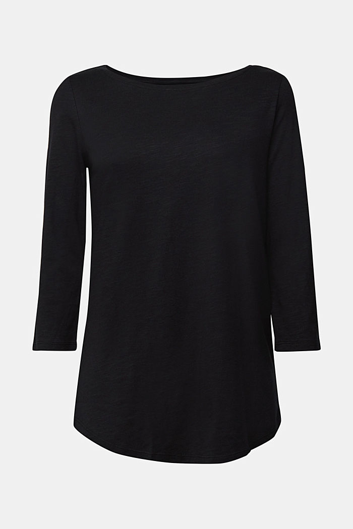 Organic cotton-jersey T-shirt, BLACK, detail image number 5
