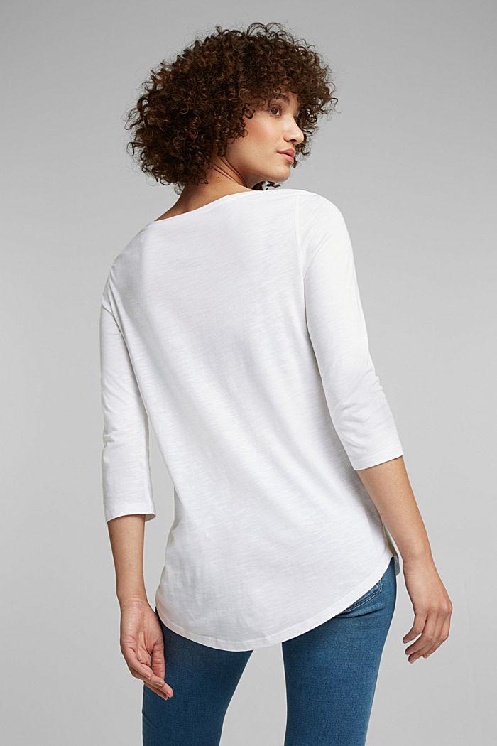 Jersey-Shirt mit Organic Cotton, WHITE, detail image number 3