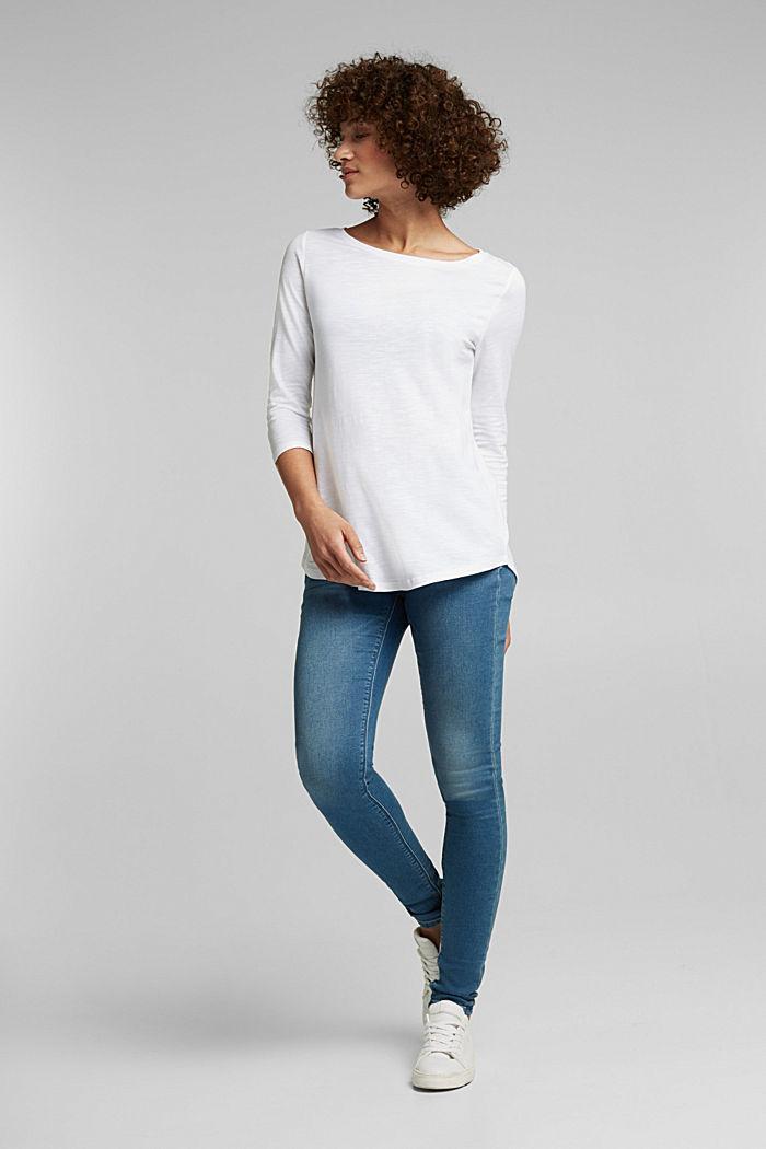 Jersey-Shirt mit Organic Cotton, WHITE, detail image number 1