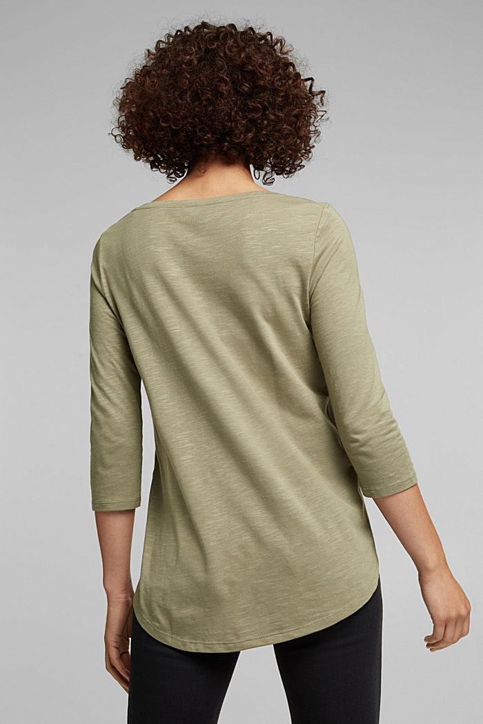 Organic cotton-jersey T-shirt, LIGHT KHAKI, detail image number 3