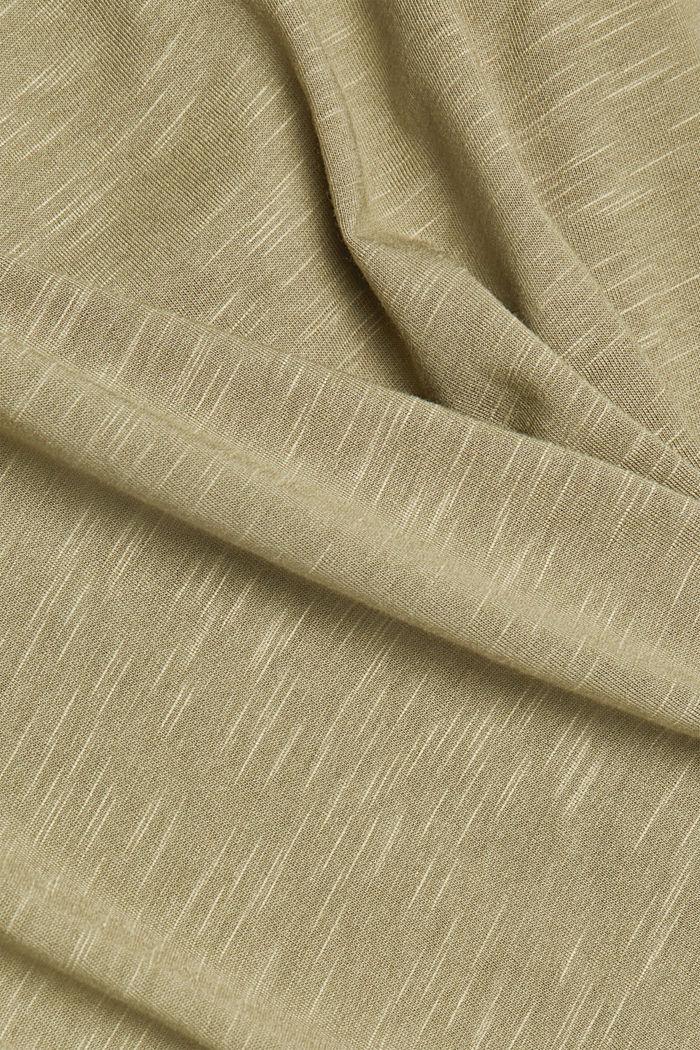 Organic cotton-jersey T-shirt, LIGHT KHAKI, detail image number 4