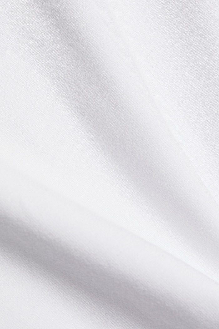 Stretch jersey top with spaghetti straps, WHITE, detail image number 4