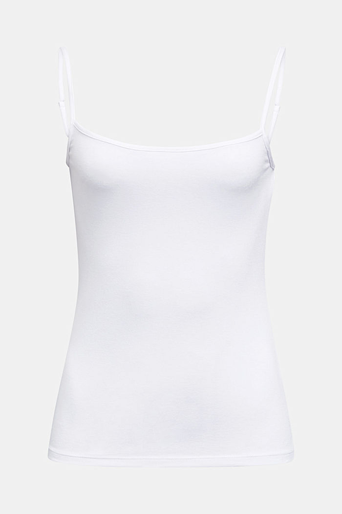 Stretch jersey top with spaghetti straps, WHITE, detail image number 6