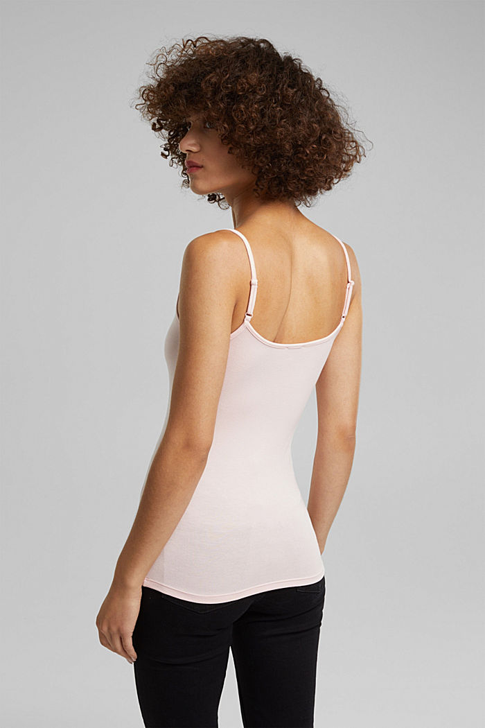Stretch jersey top with spaghetti straps, LIGHT PINK, detail image number 3