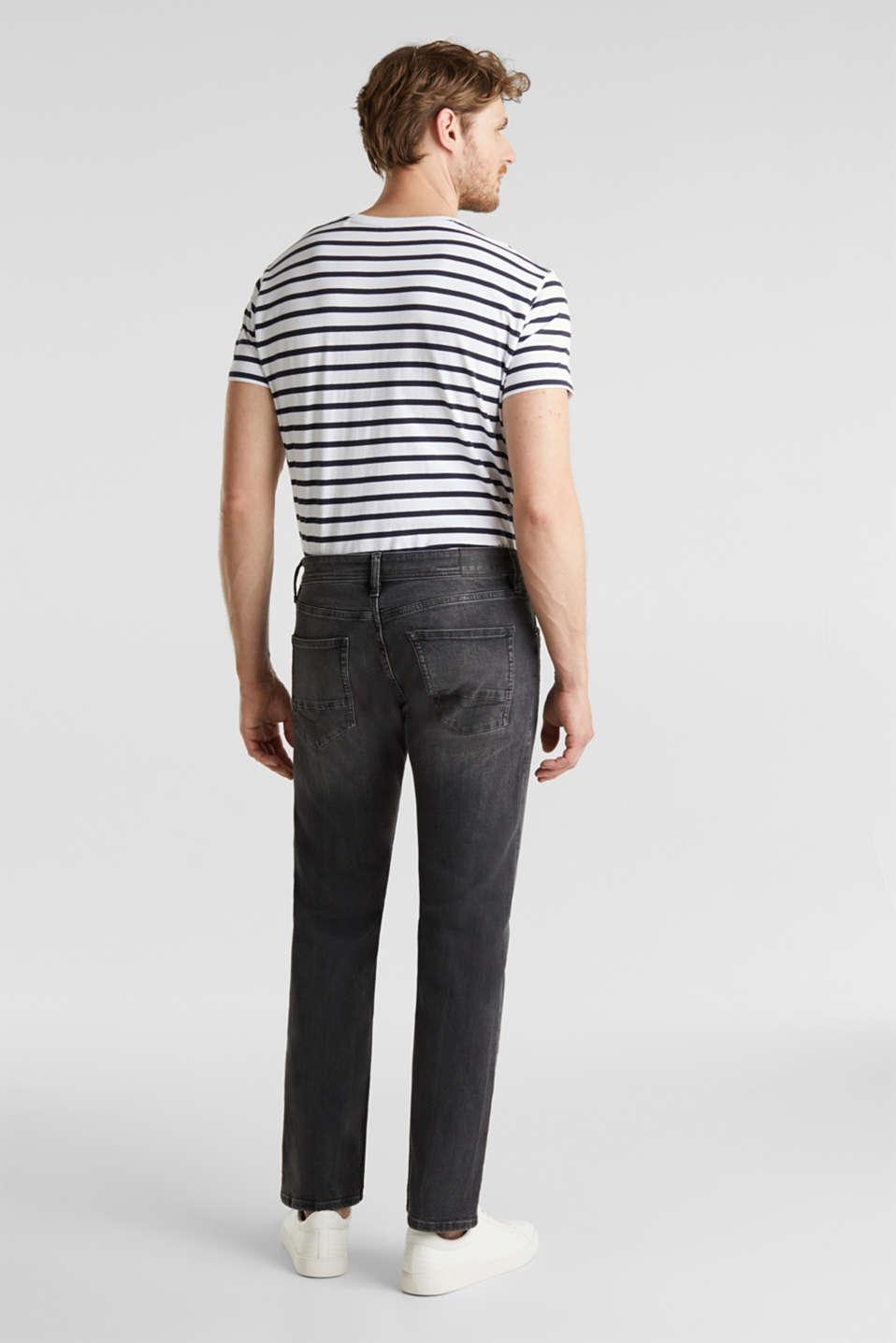 Washed-out effect stretch jeans, BLACK MEDIUM WASH, detail image number 1