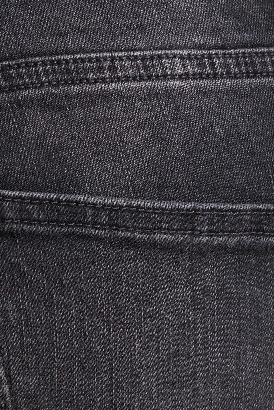 Washed-out effect stretch jeans, BLACK MEDIUM WASH, detail image number 4