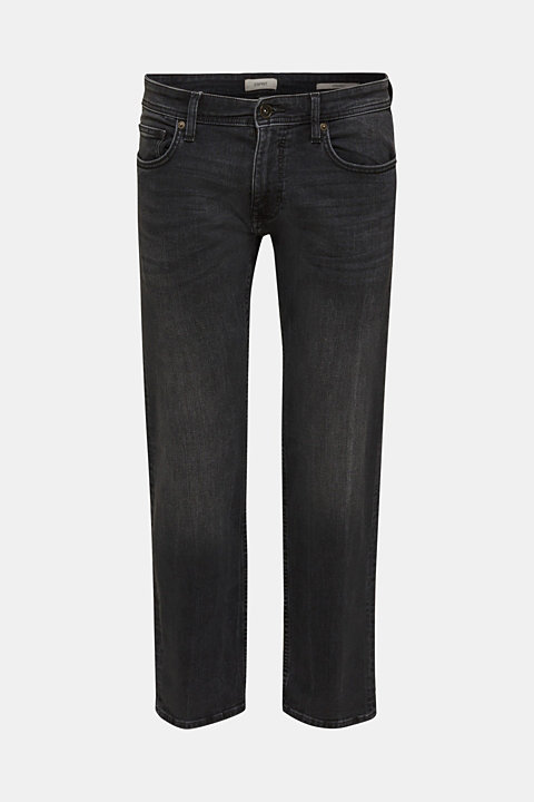 Washed-out effect stretch jeans