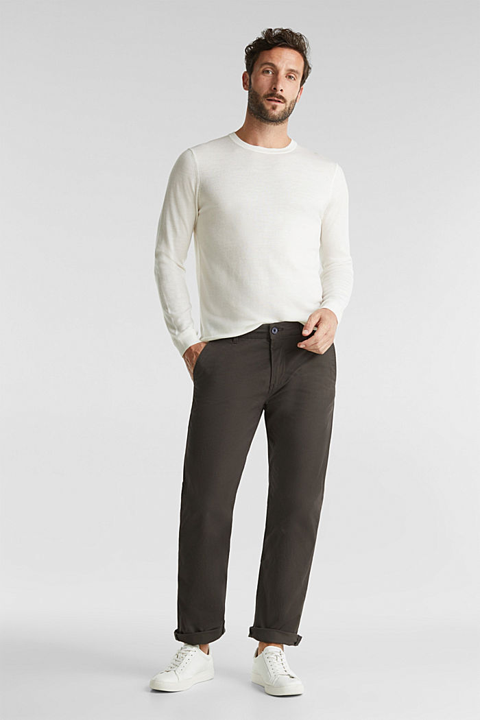 Stretch chinos made of twill