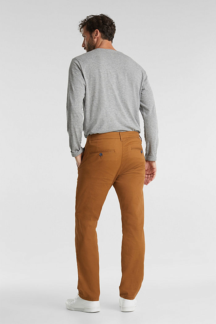 Stretch chinos made of twill, CAMEL, detail image number 3