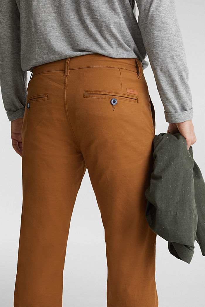 Stretch chinos made of twill, CAMEL, detail image number 5