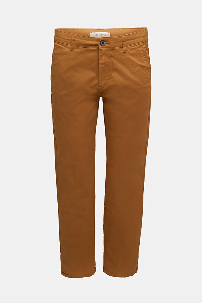 Stretch chinos made of twill, CAMEL, detail image number 6
