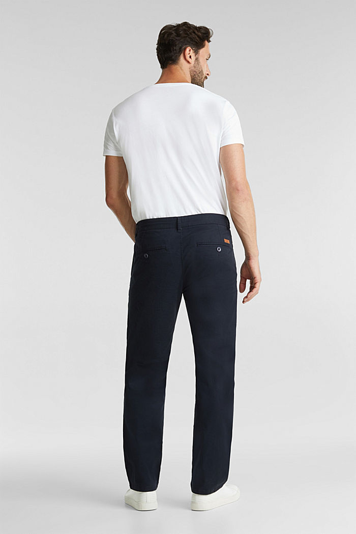 Stretch chinos made of twill, NAVY, detail image number 3