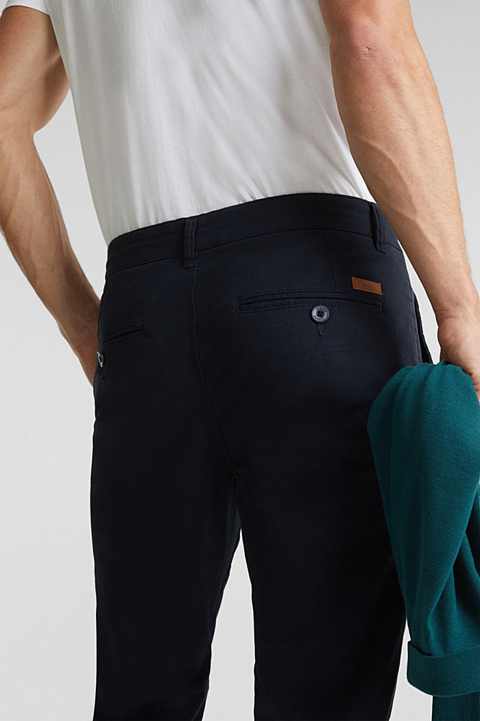 Stretch chinos made of twill, NAVY, detail image number 5