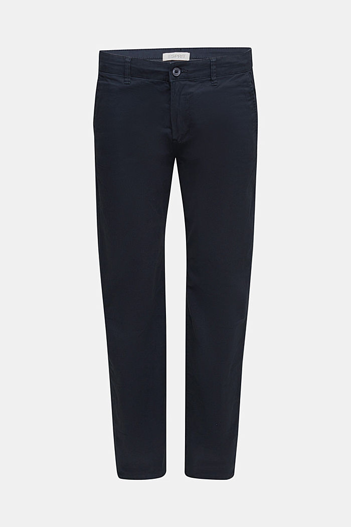 Stretch chinos made of twill, NAVY, detail image number 6
