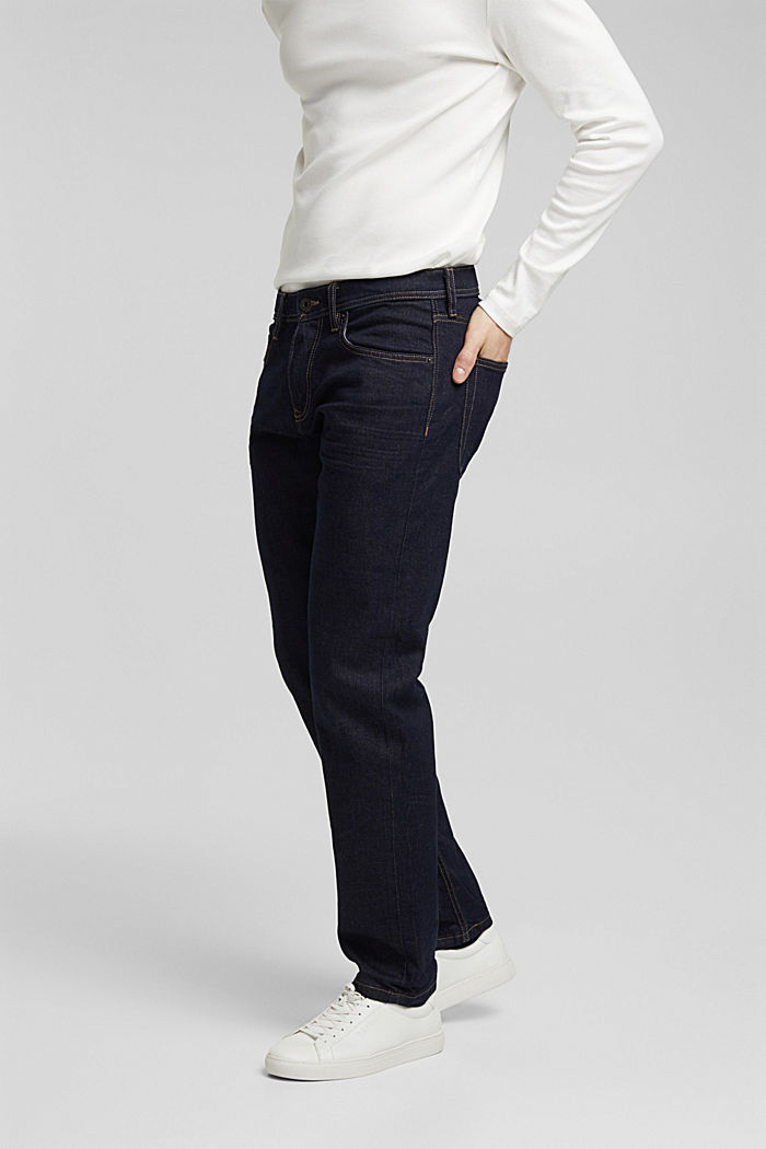 Stretch jeans containing organic cotton, BLUE RINSE, detail image number 0
